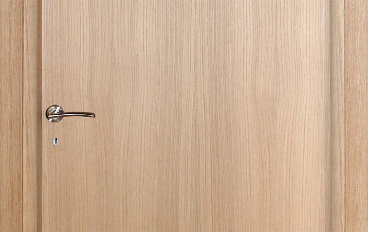 Veneered unpainted doors