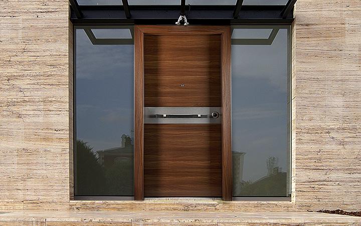 Security entrance doors
