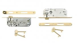 Door lock 7.5cm oval gold
